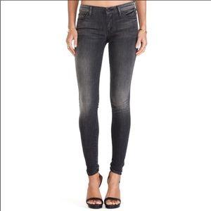 Mother the looker Black Denim Skinny Jeans Size 27